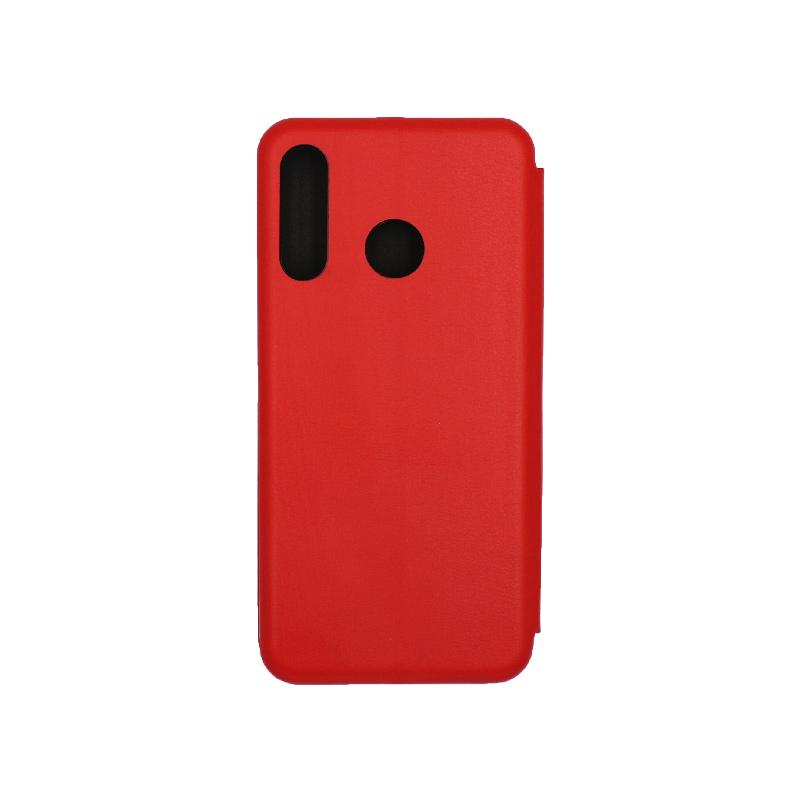 Θήκη Huawei P30 Lite Πορτοφόλι με Μαγνητικό Κλείσιμο κόκκινο 2