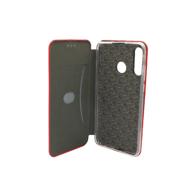 Θήκη Huawei P30 Lite Πορτοφόλι με Μαγνητικό Κλείσιμο κόκκινο 3