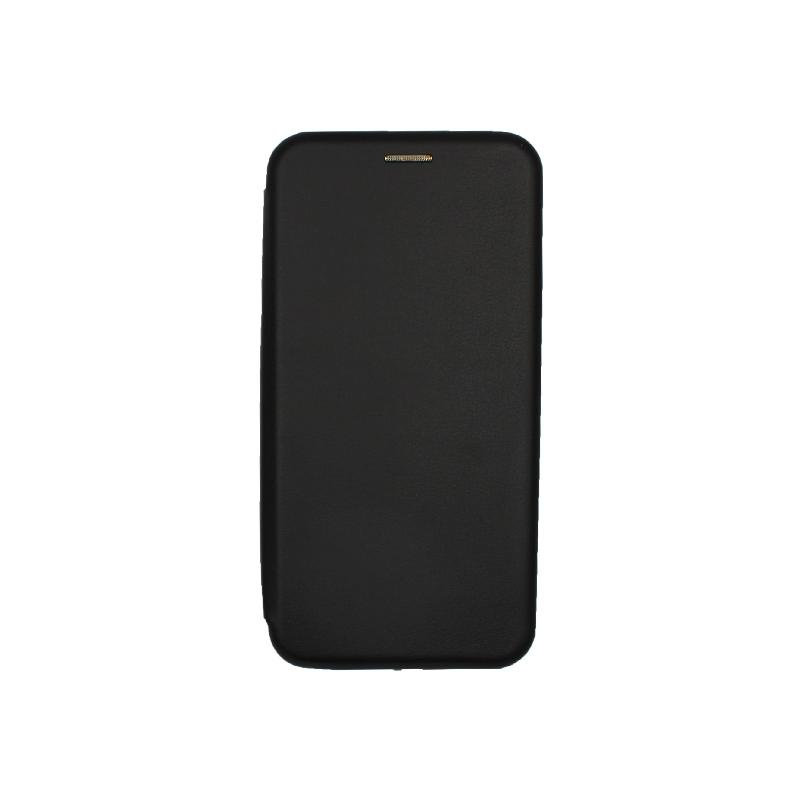 Θήκη Huawei P40 Lite E Πορτοφόλι με Μαγνητικό Κλείσιμο μαύρο 1