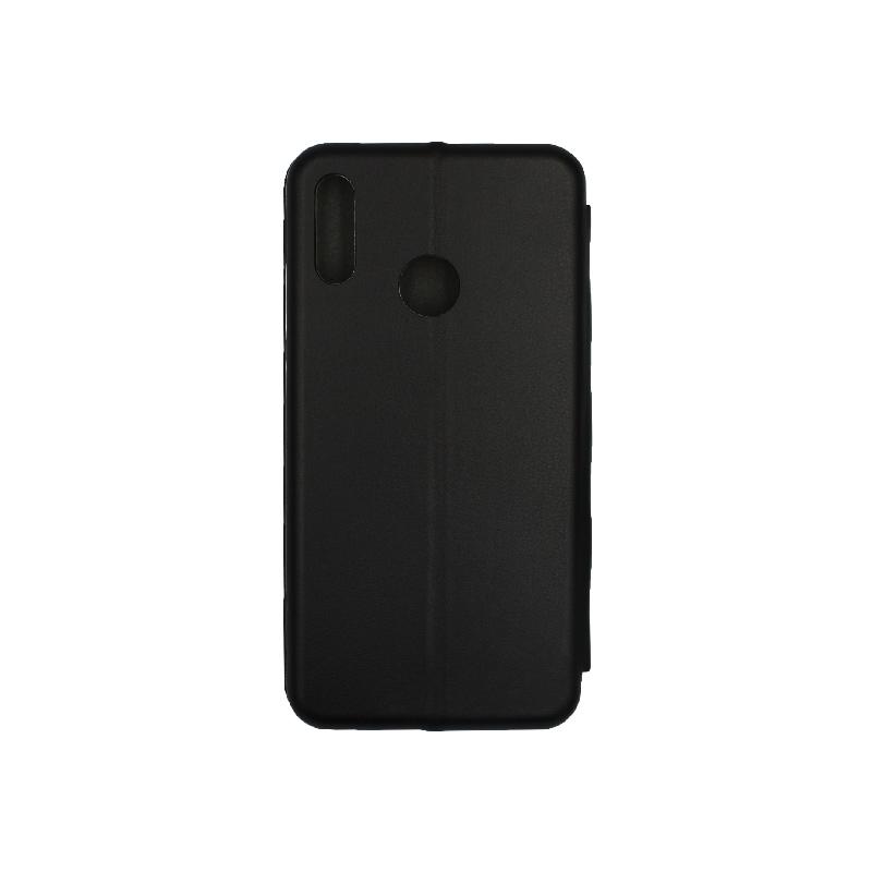 Θήκη Huawei P Smart 2019 Πορτοφόλι με Μαγνητικό Κλείσιμο μαύρο 2