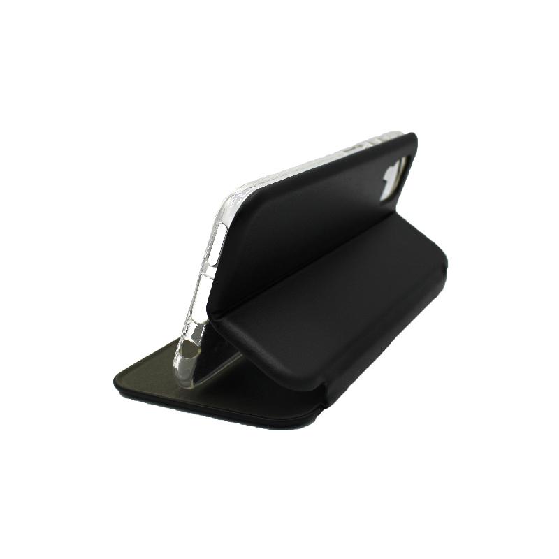 Θήκη Huawei P 40 Lite Πορτοφόλι με Μαγνητικό Κλείσιμο μαύρο 4