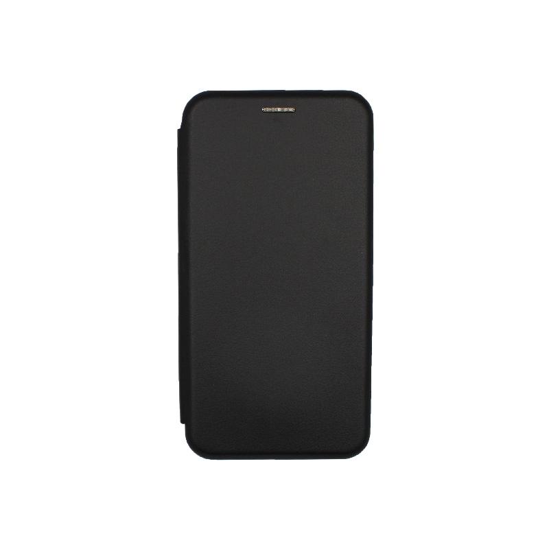 Θήκη Xiaomi Redmi 8A Πορτοφόλι με Μαγνητικό Κλείσιμο μαύρο 1