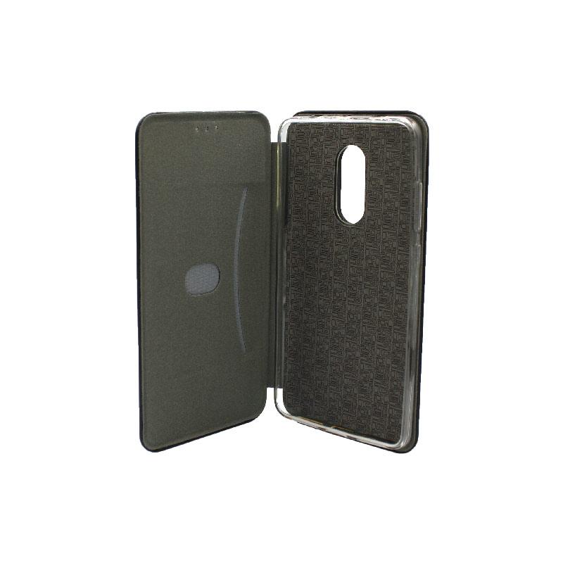 Θήκη Xiaomi Redmi 4 / 4X Πορτοφόλι με Μαγνητικό Κλείσιμο μαύρο 3