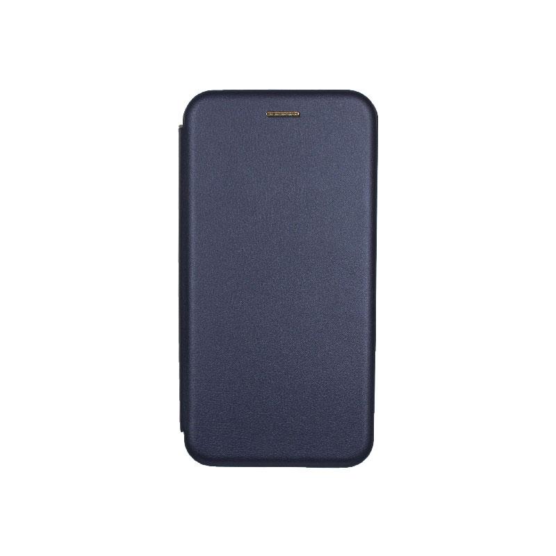 θήκη Xiaomi Mi 8 Lite πορτοφόλι με μαγνήτη μπλε1