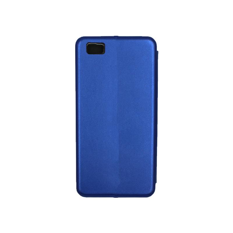 Θήκη Huawei P8 Lite Πορτοφόλι με Μαγνητικό Κλείσιμο μπλε 2