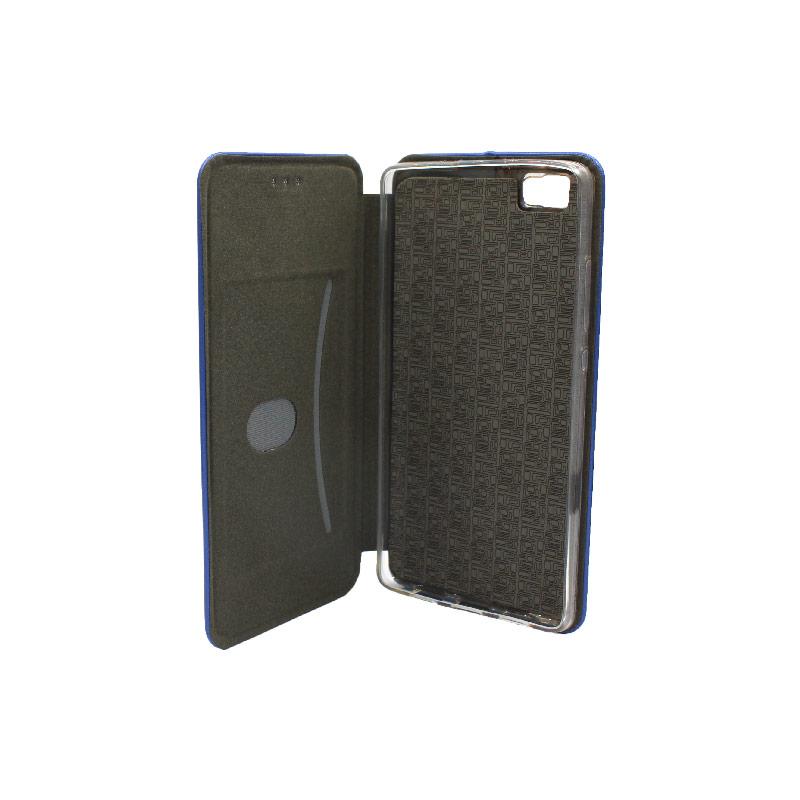 Θήκη Huawei P8 Lite Πορτοφόλι με Μαγνητικό Κλείσιμο μπλε 3