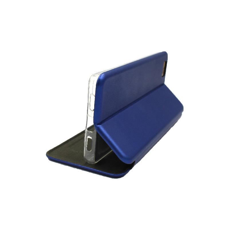 Θήκη Huawei P8 Lite Πορτοφόλι με Μαγνητικό Κλείσιμο μπλε 4