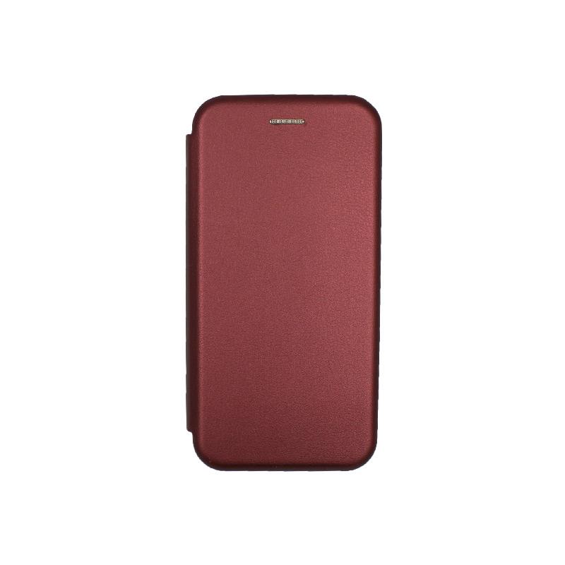 Θήκη Samsung Galaxy S20 Πορτοφόλι με Μαγνητικό Κλείσιμο μπορντό 1