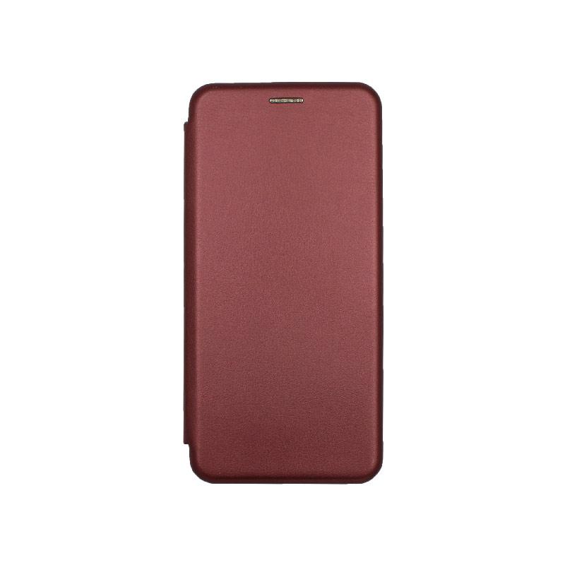 Θήκη Xiaomi Mi 10 / Mi 10 Pro Πορτοφόλι με Μαγνητικό Κλείσιμο μπορντό 1