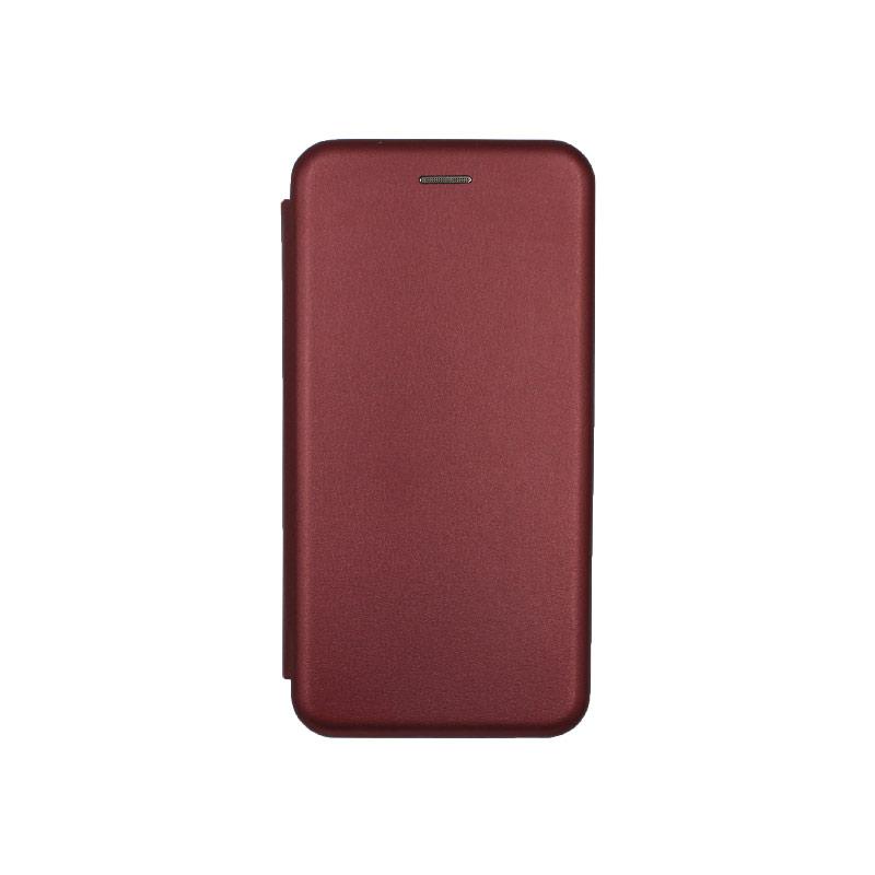Θήκη Xiaomi Mi 9 Lite / CC9 / A3 Lite Πορτοφόλι με Μαγνητικό Κλείσιμο μπορντό 1