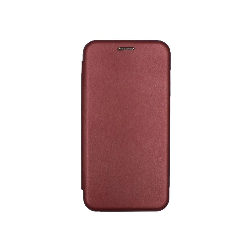 Θήκη Huawei Mate 20 Pro Πορτοφόλι με Μαγνητικό Κλείσιμο μπορντό 1