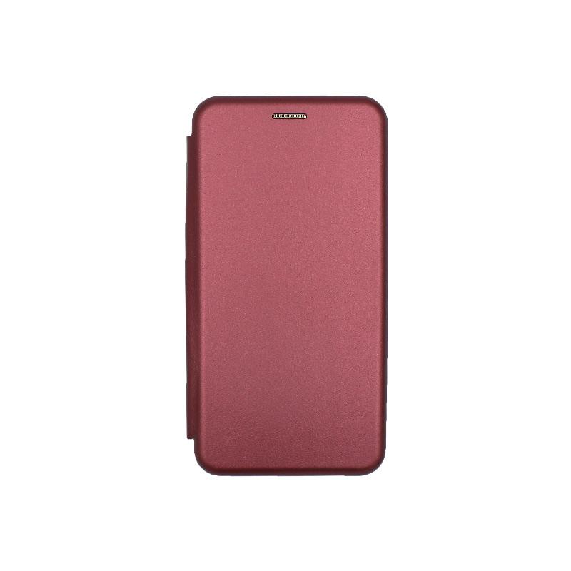 Θήκη Huawei Y6 2018 Πορτοφόλι με Μαγνητικό Κλείσιμο μπορντό 1