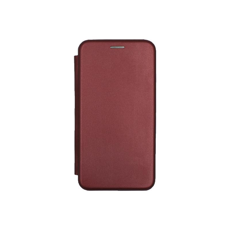 Θήκη Huawei P10 Lite Πορτοφόλι με Μαγνητικό Κλείσιμο μπορντό 1