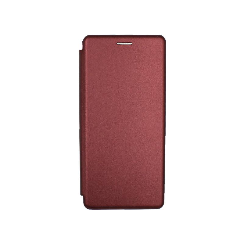 Θήκη Samsung Galaxy S20 Plus Πορτοφόλι με Μαγνητικό Κλείσιμο μπορντό 1