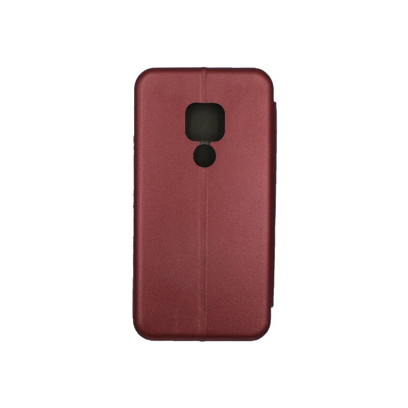 Θήκη Huawei Mate 20 Πορτοφόλι με Μαγνητικό Κλείσιμο μπορντό 2