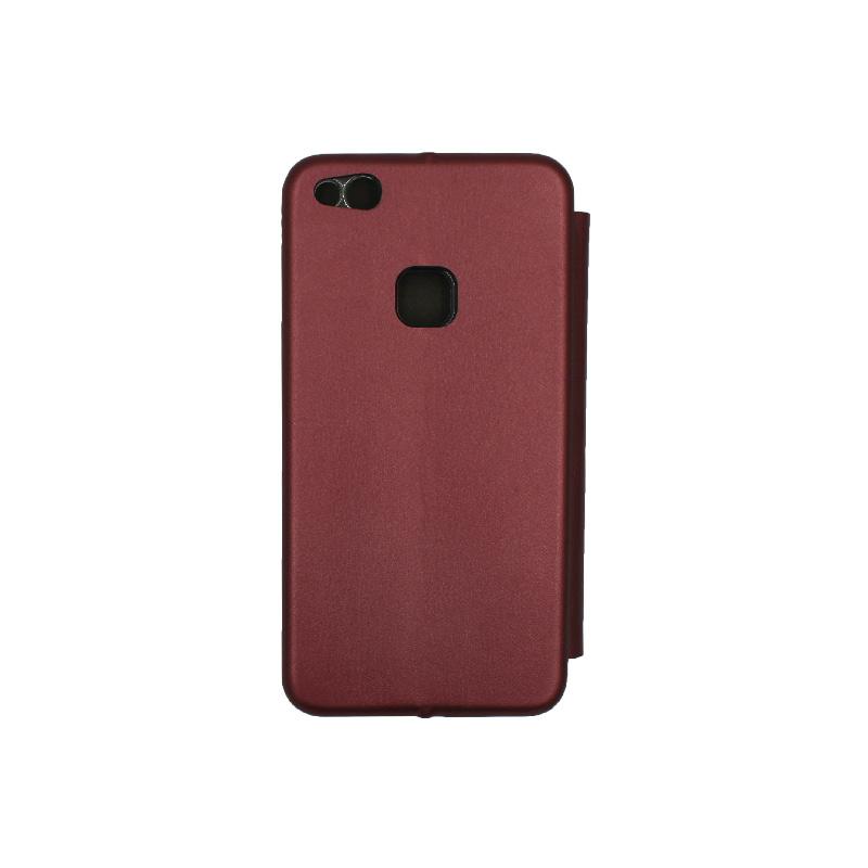 Θήκη Huawei P10 Lite Πορτοφόλι με Μαγνητικό Κλείσιμο μπορντό 2