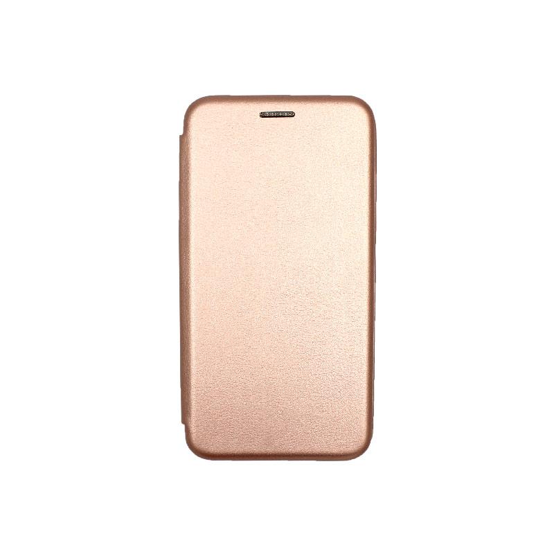 Θήκη Huawei P8 / P9 Lite 2017 Πορτοφόλι με Μαγνητικό Κλείσιμο ροζ χρυσό 1