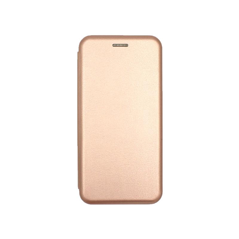 Θήκη Huawei P9 Lite Πορτοφόλι με Μαγνητικό Κλείσιμο ροζ χρυσό 1