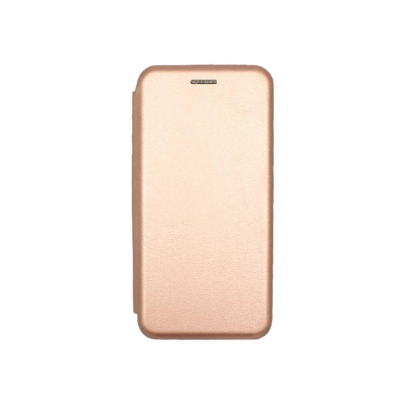 Θήκη Huawei P20 Πορτοφόλι με Μαγνητικό Κλείσιμο ροζ χρυσό 1