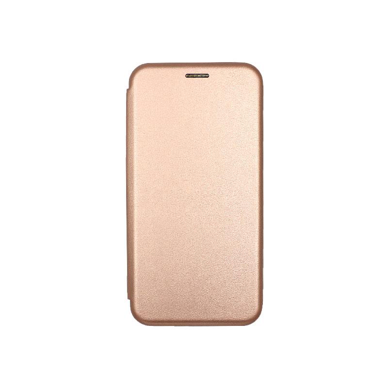 Θήκη Xiaomi Redmi 5 Plus Πορτοφόλι με Μαγνητικό Κλείσιμο ροζ χρυσό 1