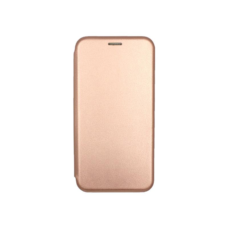 Θήκη Xiaomi Redmi 5 Πορτοφόλι με Μαγνητικό Κλείσιμο ροζ χρυσό 1