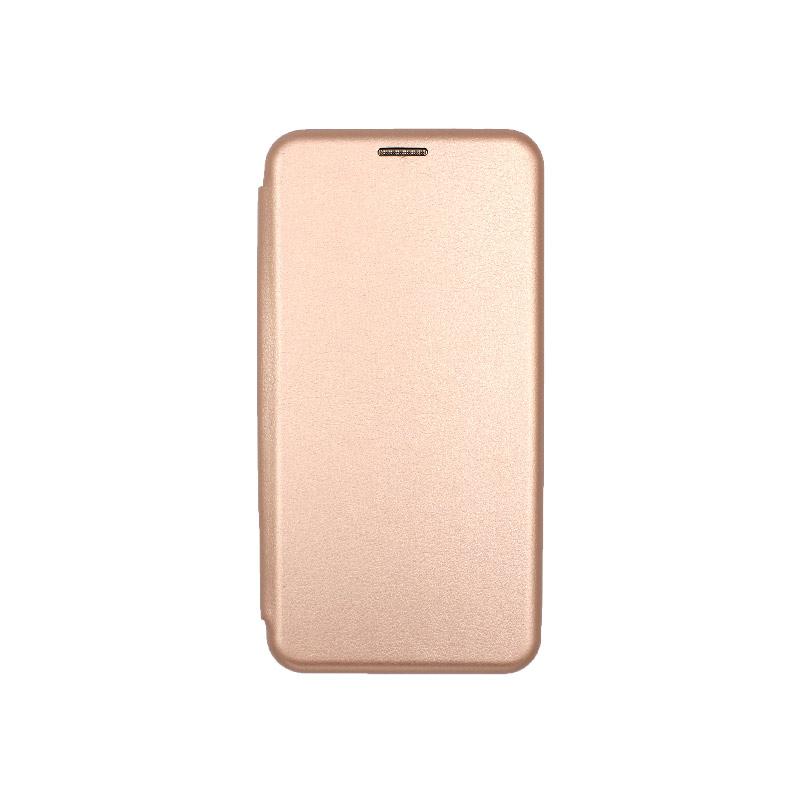 Θήκη Xiaomi Redmi Note 5A Πορτοφόλι με Μαγνητικό κλείσιμο ροζ χρυσό 1