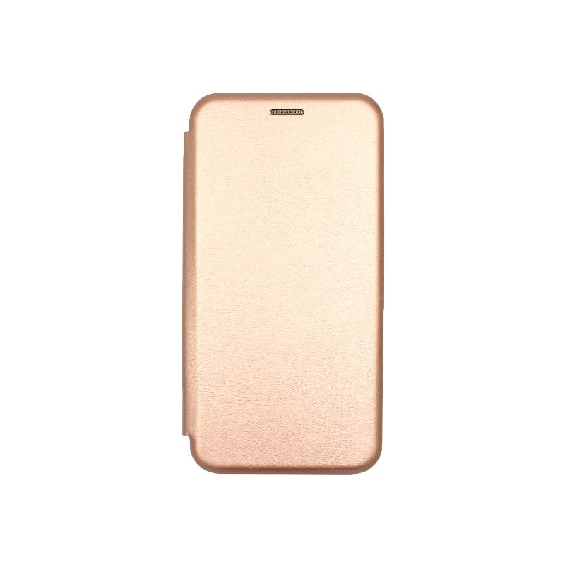 Θήκη Huawei P 40 Lite Πορτοφόλι με Μαγνητικό Κλείσιμο ροζ χρυσό 1