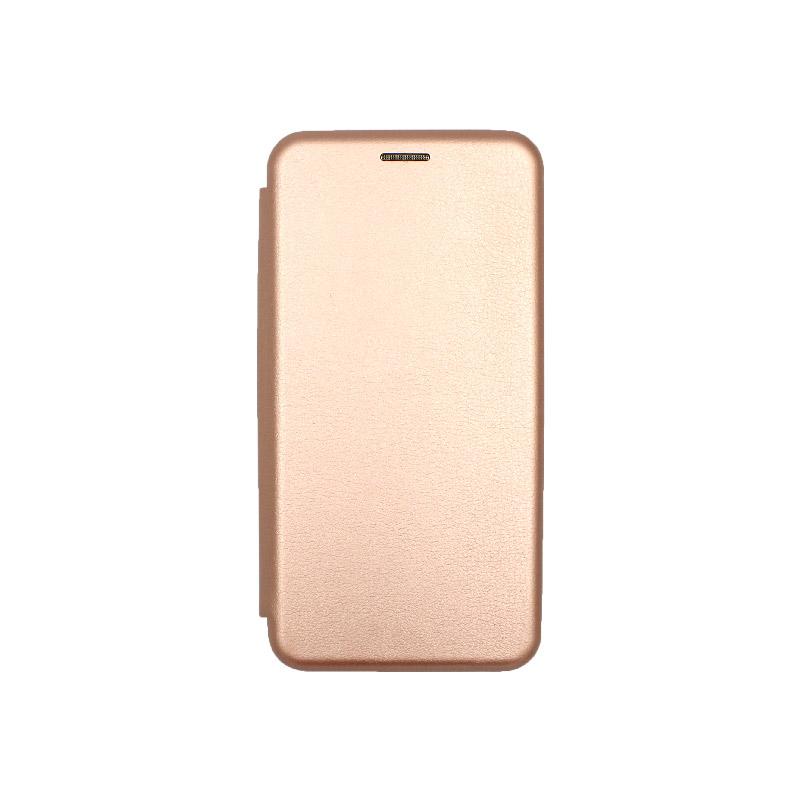 Θήκη Huawei Y6 2018 Πορτοφόλι με Μαγνητικό Κλείσιμο ροζ χρυσό 1