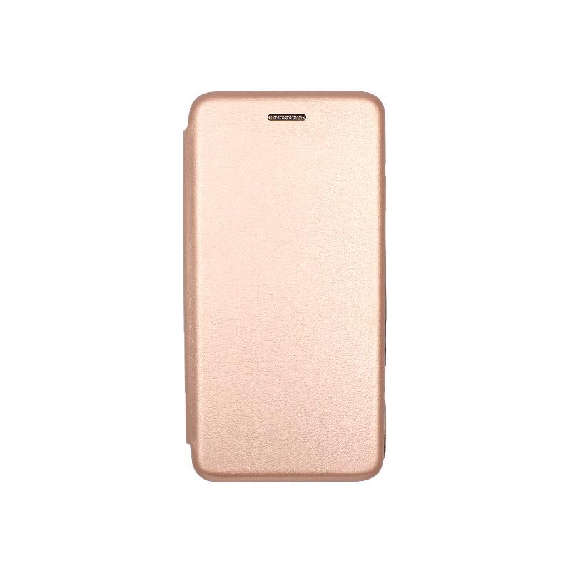 Θήκη Huawei Y5 2018 Πορτοφόλι με Μαγνητικό Κλείσιμο ροζ χρυσό 1