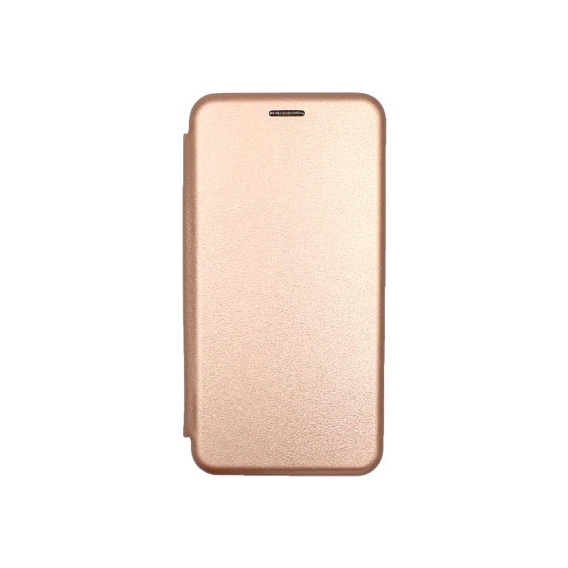 Θήκη Huawei P30 Lite Πορτοφόλι με Μαγνητικό Κλείσιμο ροζ χρυσό 1