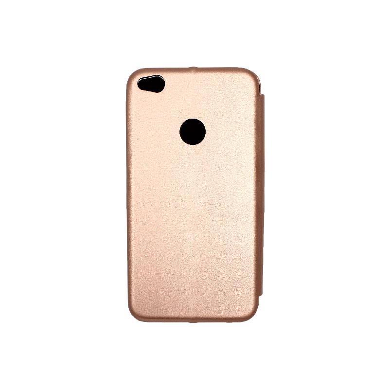 Θήκη Huawei P8 / P9 Lite 2017 Πορτοφόλι με Μαγνητικό Κλείσιμο ροζ χρυσό 2