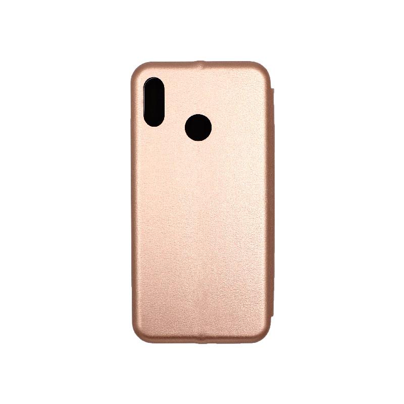 Θήκη Huawei P20 Lite Πορτοφόλι με Μαγνητικό Κλείσιμο ροζ χρυσό 2