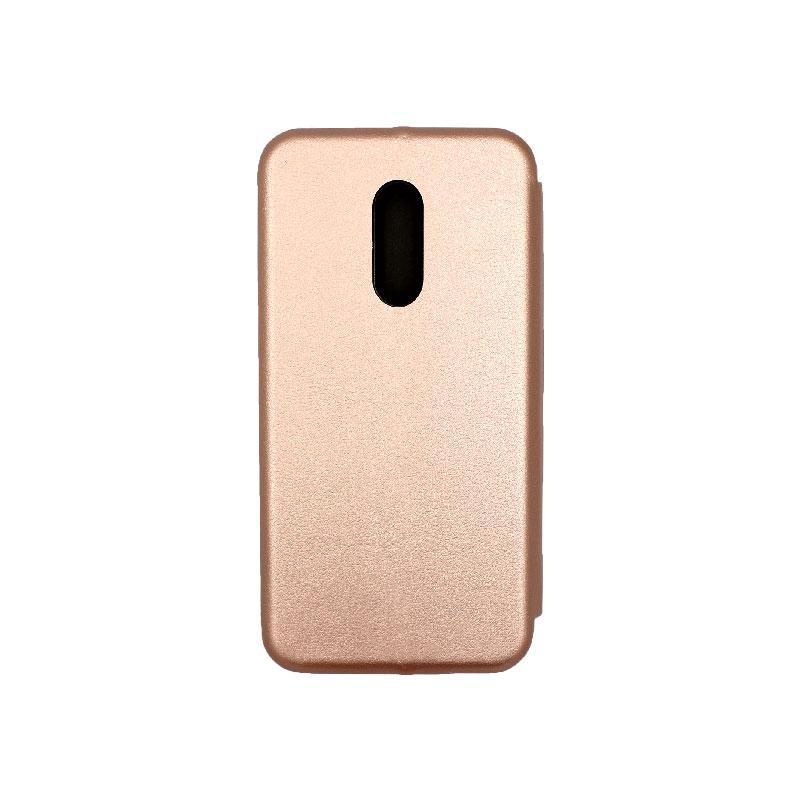 Θήκη Xiaomi Redmi 5 Plus Πορτοφόλι με Μαγνητικό Κλείσιμο ροζ χρυσό 2