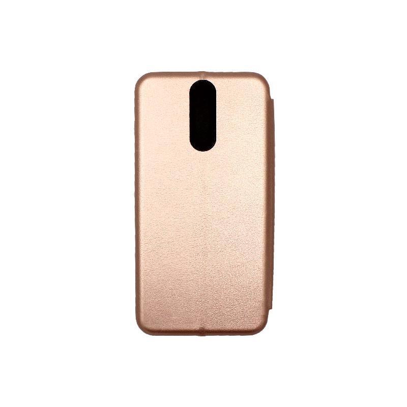 Θήκη Huawei Mate 10 Lite Πορτοφόλι με Μαγνητικό Κλείσιμο ροζ χρυσό 2