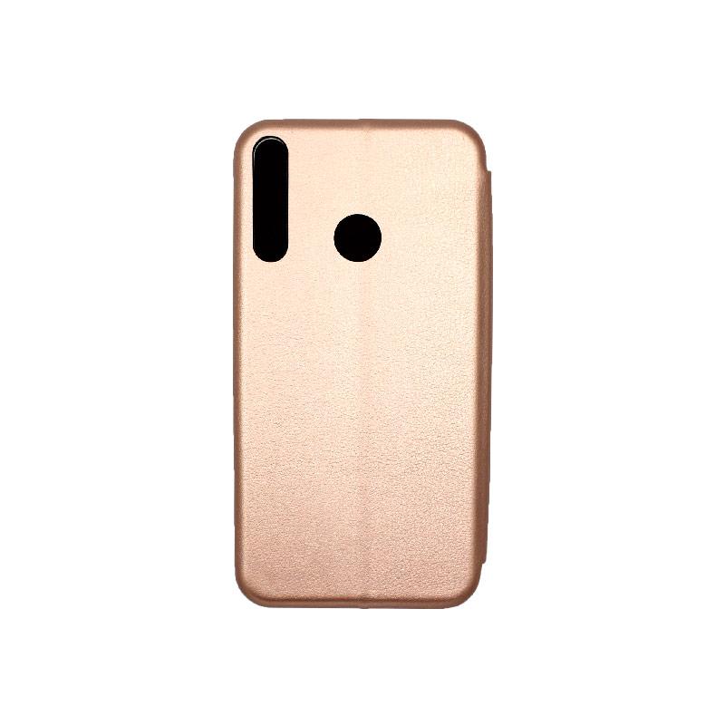 Θήκη Huawei P40 Lite E Πορτοφόλι με Μαγνητικό Κλείσιμο ροζ χρυσό 2