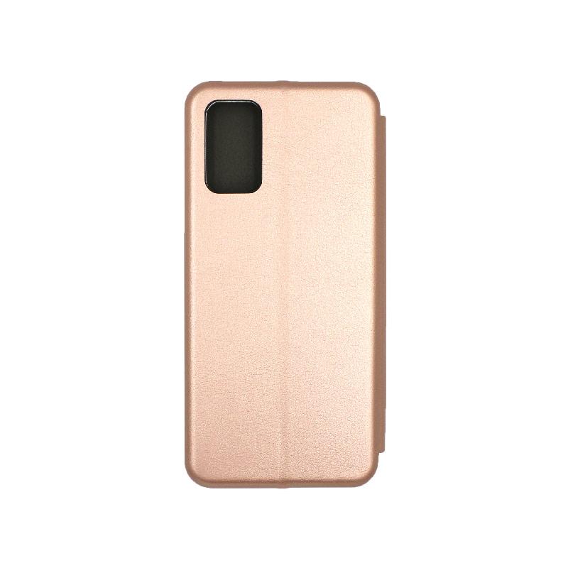 Θήκη Samsung Galaxy S20 Plus Πορτοφόλι με Μαγνητικό Κλείσιμο ροζ χρυσό 2