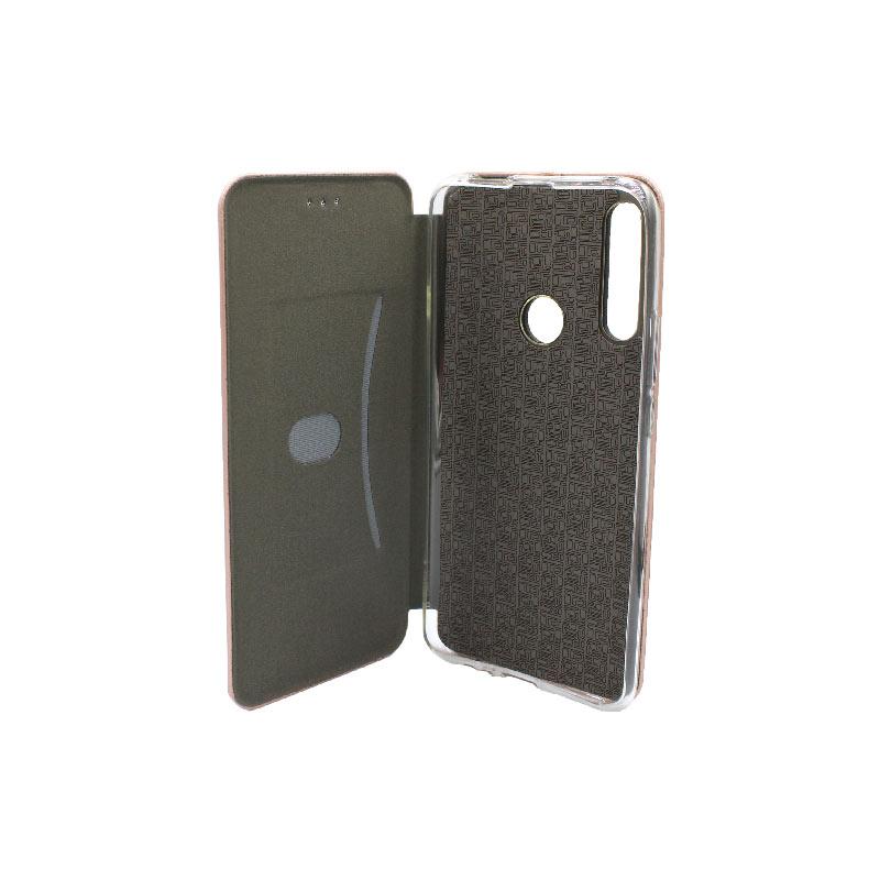 Θήκη Huawei P Smart Z Πορτοφόλι με Μαγνητικό Κλείσιμο ροζ χρυσό 3