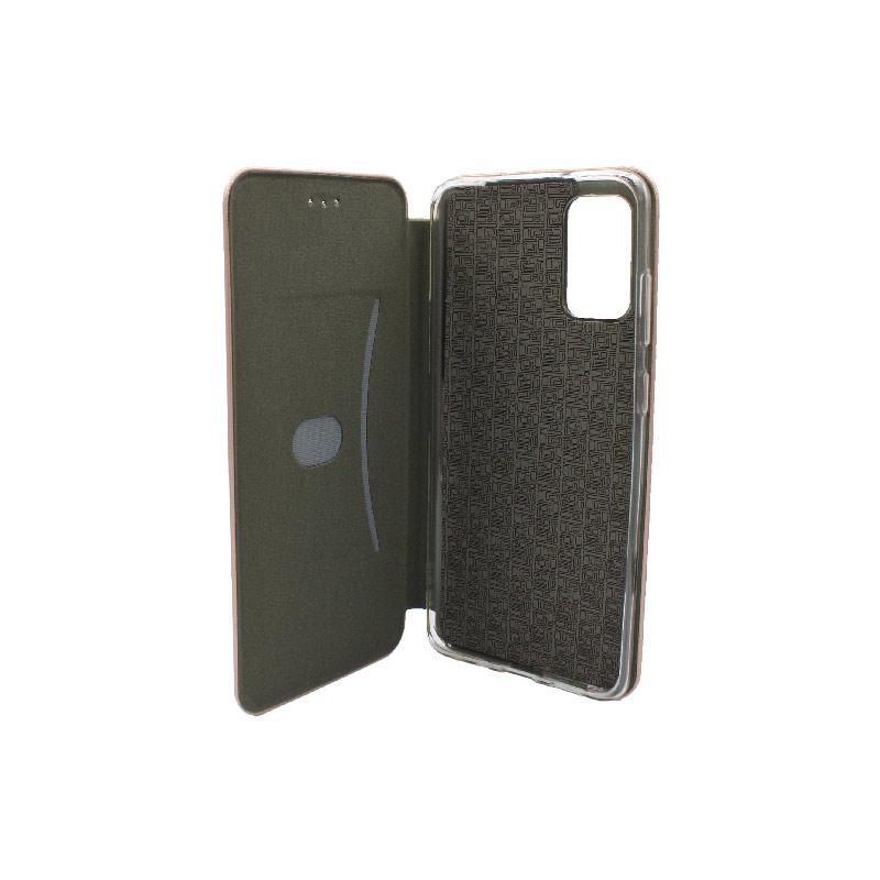 Θήκη Samsung Galaxy S20 Plus Πορτοφόλι με Μαγνητικό Κλείσιμο ροζ χρυσό 3