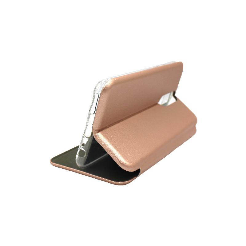 Θήκη Huawei Mate 10 Lite Πορτοφόλι με Μαγνητικό Κλείσιμο ροζ χρυσό 4