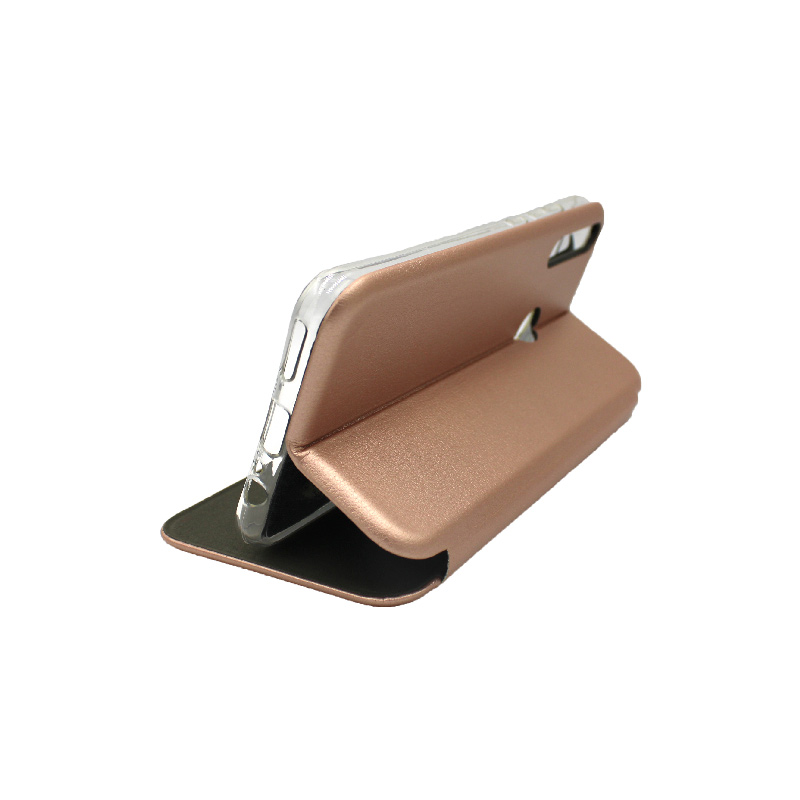 Θήκη Huawei P40 Lite E Πορτοφόλι με Μαγνητικό Κλείσιμο ροζ χρυσό 4