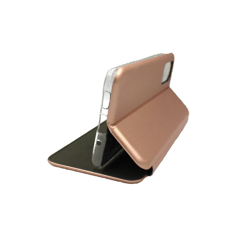 Θήκη Samsung Galaxy S20 Plus Πορτοφόλι με Μαγνητικό Κλείσιμο ροζ χρυσό 4