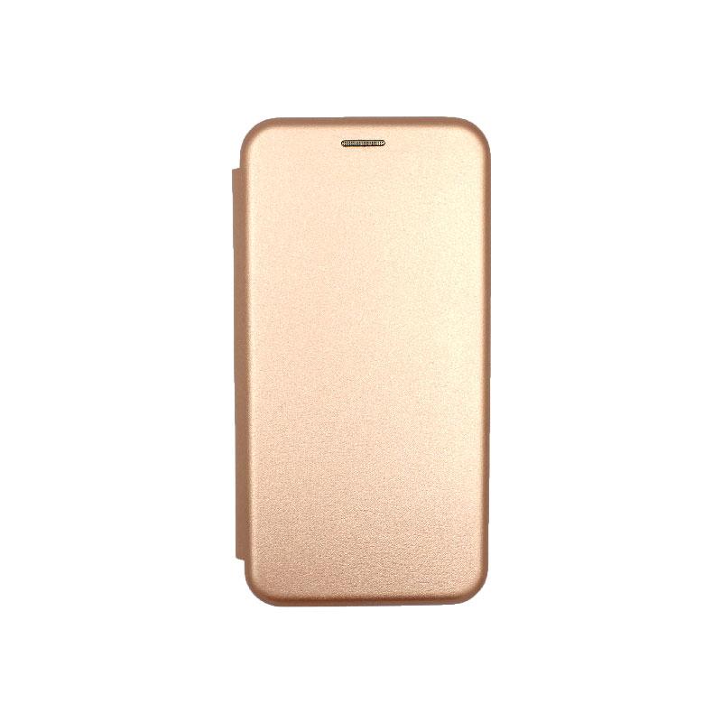 Θήκη Xiaomi Redmi 7 Πορτοφόλι με Μαγνητικό Κλείσιμο ροζ χρυσό 1