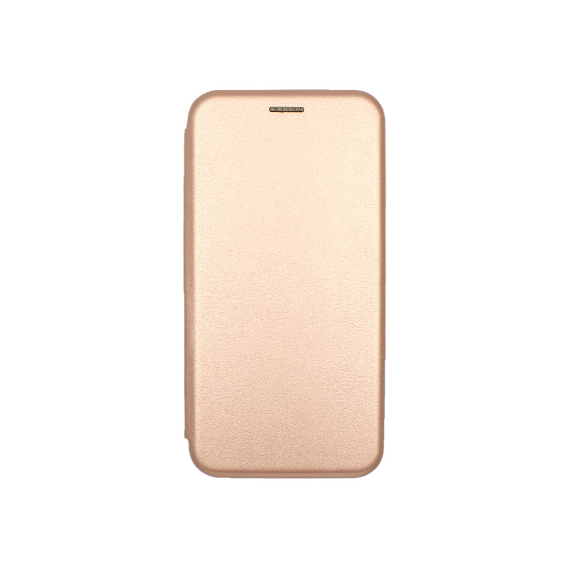 Θήκη Huawei Y7 2018 Πορτοφόλι με Μαγνητικό Κλείσιμο χρυσό 1