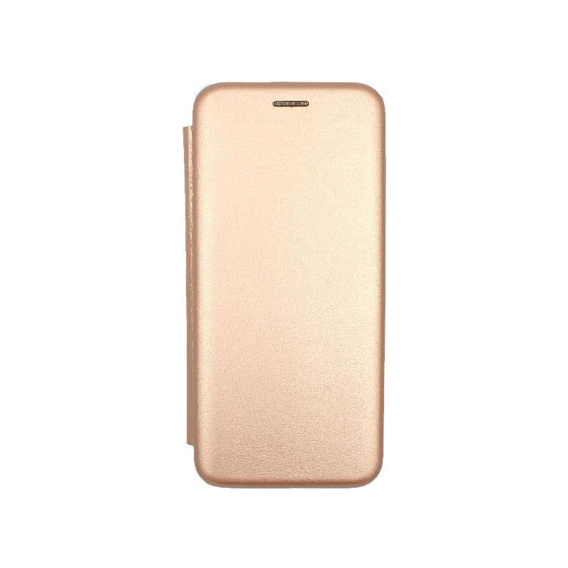 Θήκη Huawei Y6 2019 Πορτοφόλι με Μαγνητικό Κλείσιμο ροζ χρυσό 1