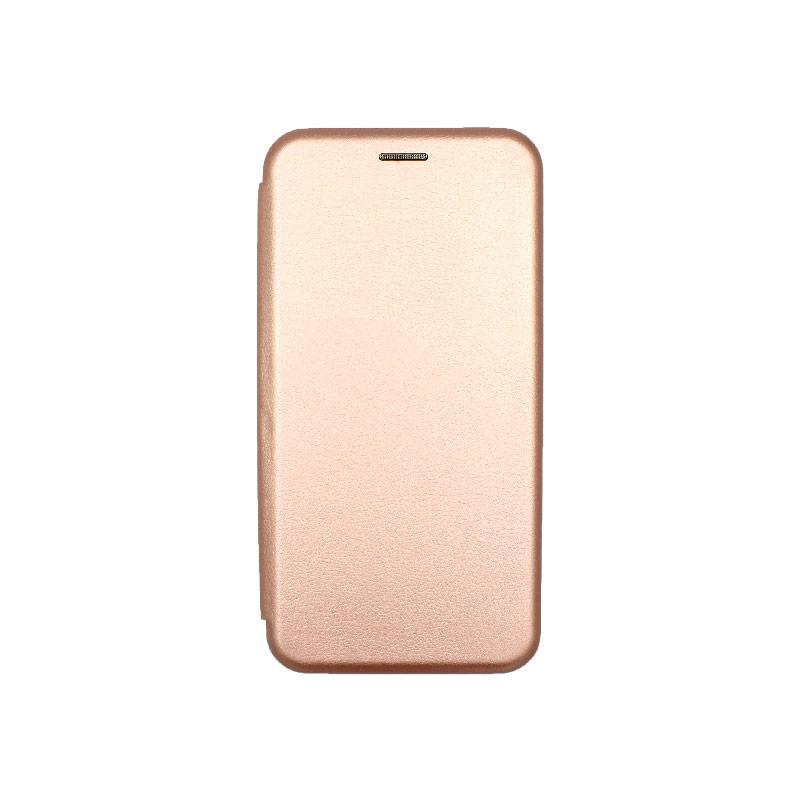 Θήκη Xiaomi Redmi 8 Πορτοφόλι με Μαγνητικό Κλείσιμο ροζ χρυσό 1