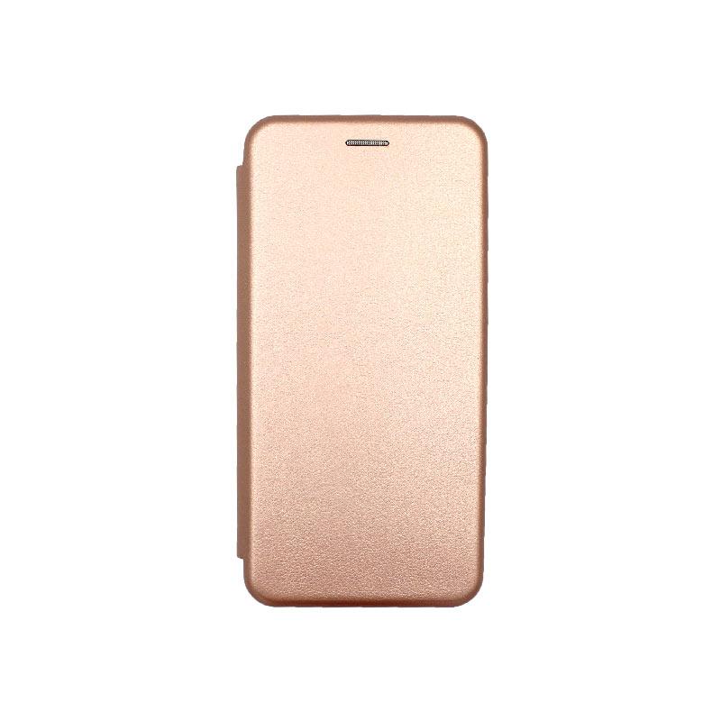 Θήκη Xiaomi Redmi Note 8T Πορτοφόλι με Μαγνητικό Κλείσιμο ροζ χρυσό 1