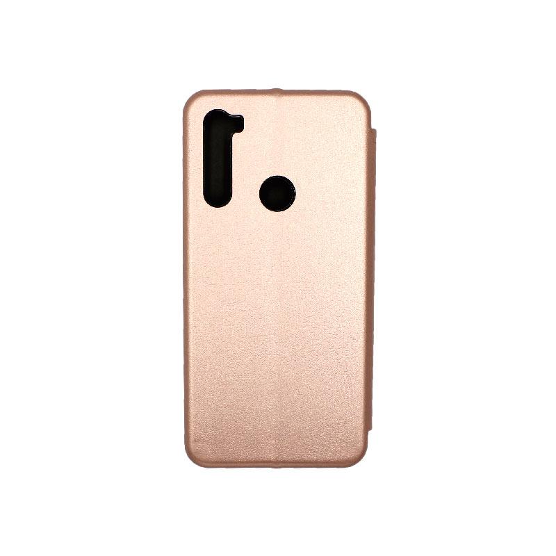 Θήκη Xiaomi Redmi Note 8T Πορτοφόλι με Μαγνητικό Κλείσιμο ροζ χρυσό 2