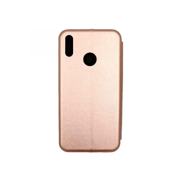 Θήκη Huawei Y7 2019 Πορτοφόλι με Μαγνητικό Κλείσιμο ροζ χρυσό 2