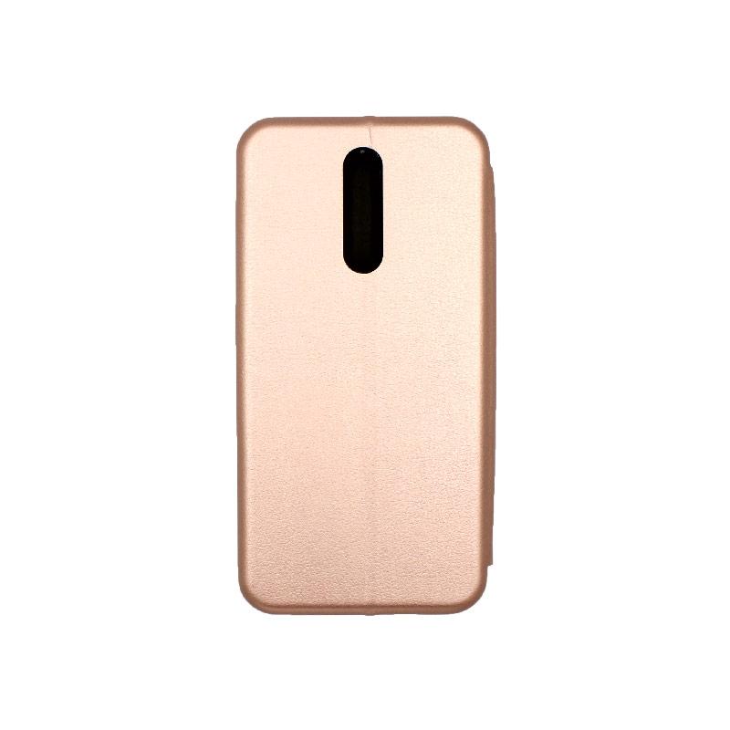 Θήκη Xiaomi Redmi 8 Πορτοφόλι με Μαγνητικό Κλείσιμο ροζ χρυσό 2