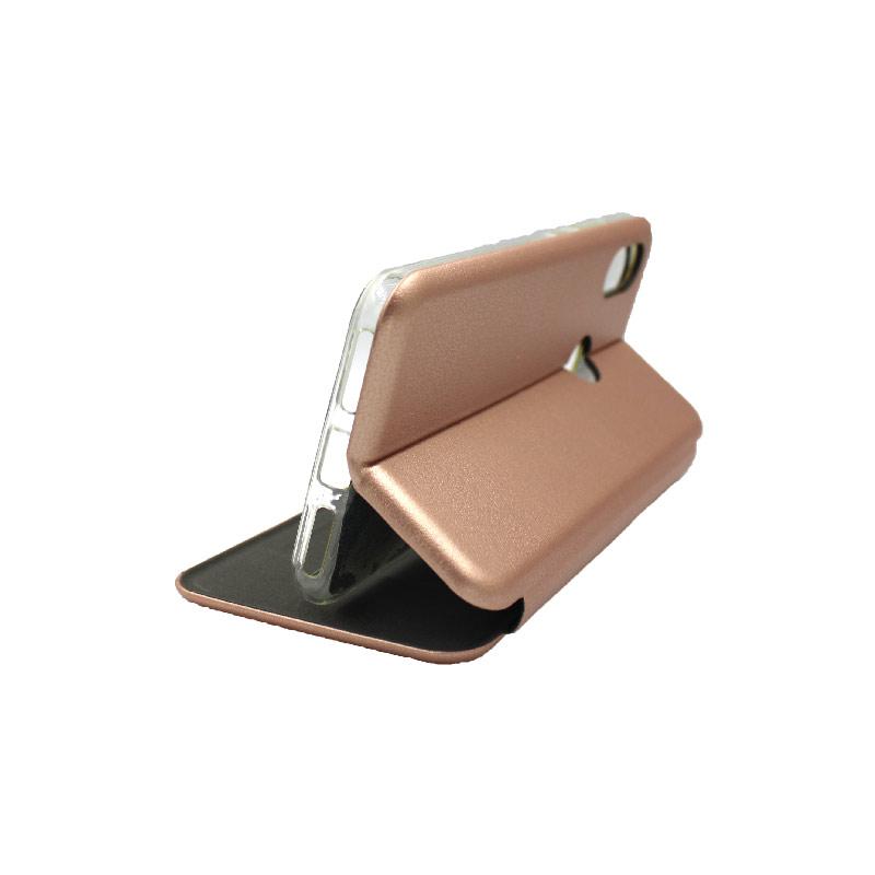 Θήκη Xiaomi A2 Lite Redmi 6X / A2 / Redmi 6 Pro Πορτοφόλι με Μαγνητικό Κλείσιμο ροζ χρυσό 4